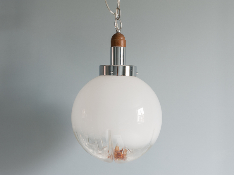 Mazzega Murano Glass Flower Pendant Light photo 1