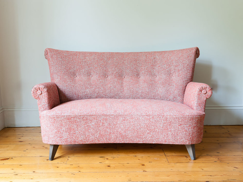 Pink Danish Two Seater Sofa