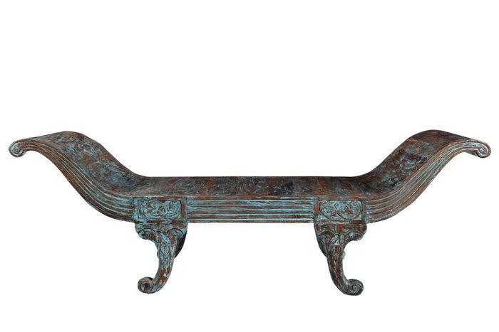 Indian Maharani Style Wooden Bench Sofa