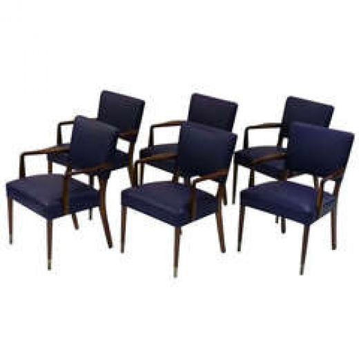Six Rosewood Boardroom Chairs photo 1