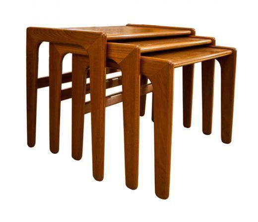 Mid Century Danish Teak Nest Of Tables
