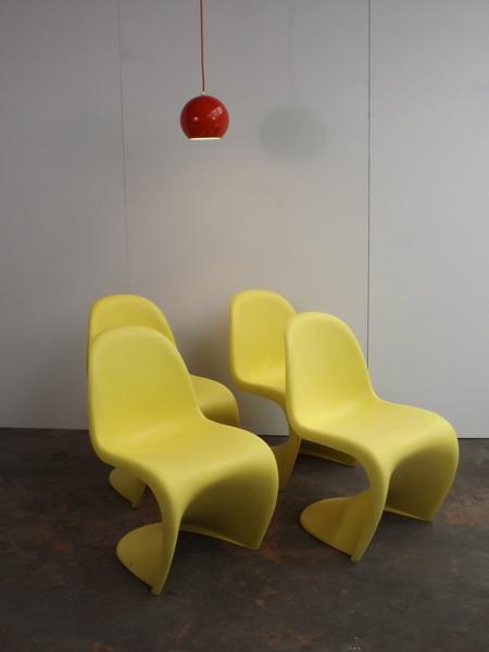 Set Of 4 Panton Chairs, Vitra Edition