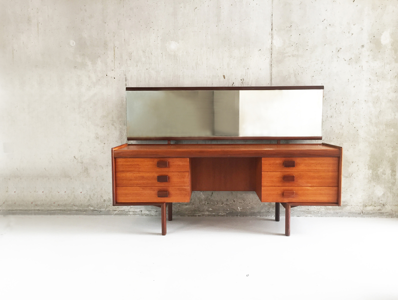 1970's White And Newton Teak Dressing Table