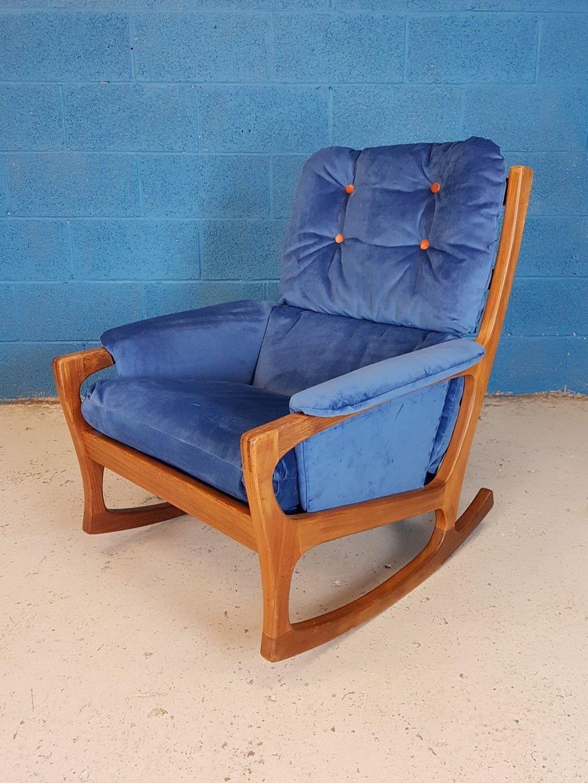 Picture of: Vintage Retro Mid Century 1960 S Danish Teak Rocking Chair Vinterior