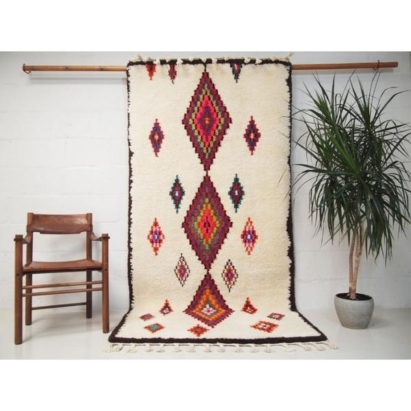 Handwoven Moroccan Azilal Wool Rug
