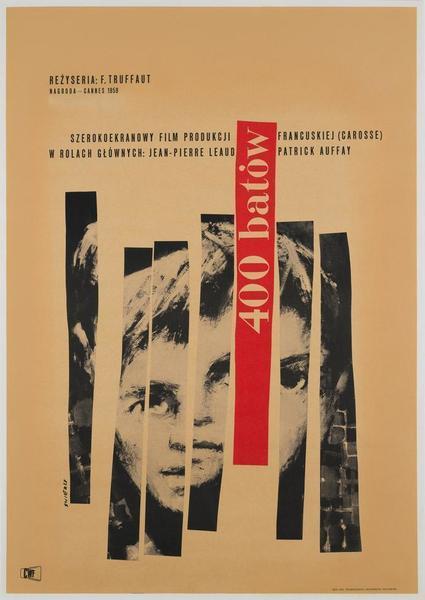 400 Blows 1960 Polish Film / Movie Poster, Original Vintage