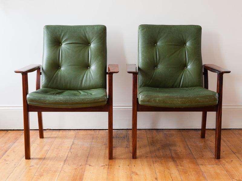 Pair Of Danish Rosewood Arne Vodder Armchairs