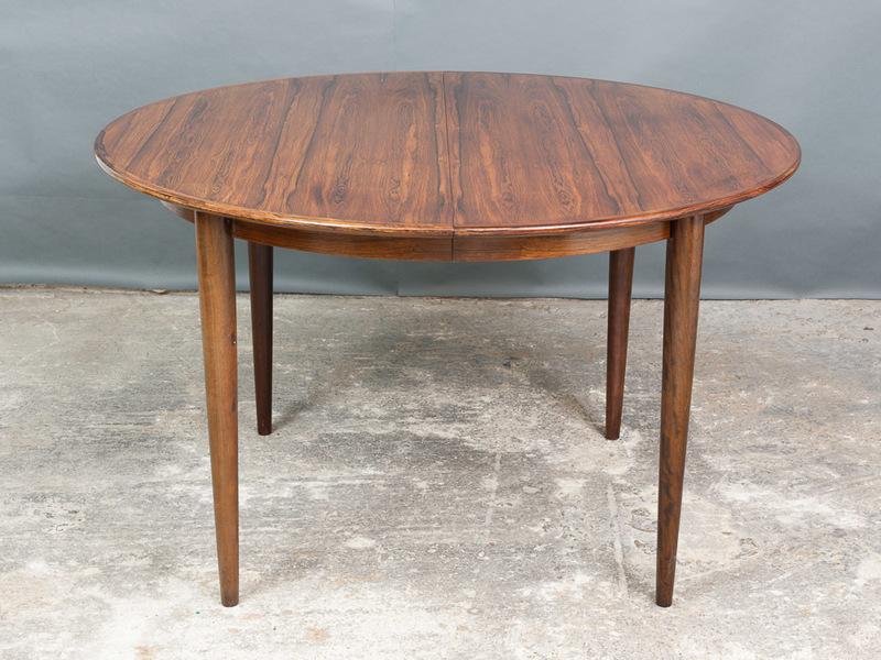 1960s Kai Kristiansen Danish Rosewood Dining Table