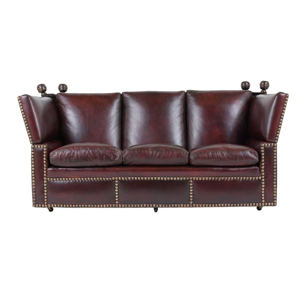 Wondrous Grand Neoclassical Style Comfortable Three Seat Leather Sofa Forskolin Free Trial Chair Design Images Forskolin Free Trialorg