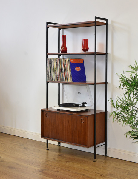 timeless design 29780 dad74 Mid Century Teak And Metal Ladder Bookcase Record Cabinet Vintage Avalon *  Free Delivery To Mainland England & Wales *