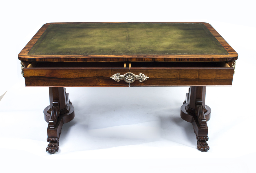 Antique Regency Rosewood Writing Library Table C.1820