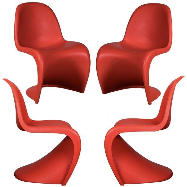 Original Verner Panton S Chair (Set Of 4)