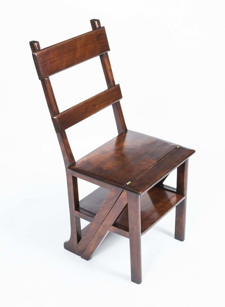 Antique Victorian Metamorphic Chair Library Steps C1880