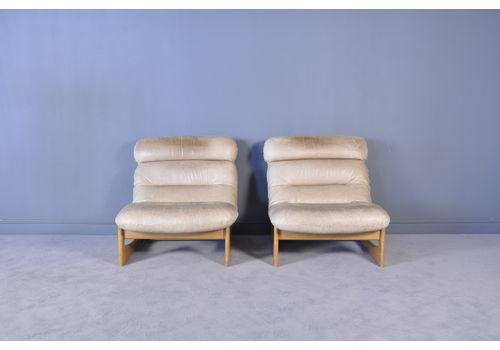 Astonishing Mid Century Leather Chairs Vinterior Bralicious Painted Fabric Chair Ideas Braliciousco