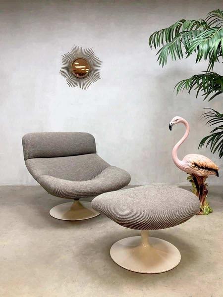 Geoffrey Harcourt Voor Artifort Design Fauteuil.Vintage Design Swivel Chair Swivel Armchair Stool Geoffrey