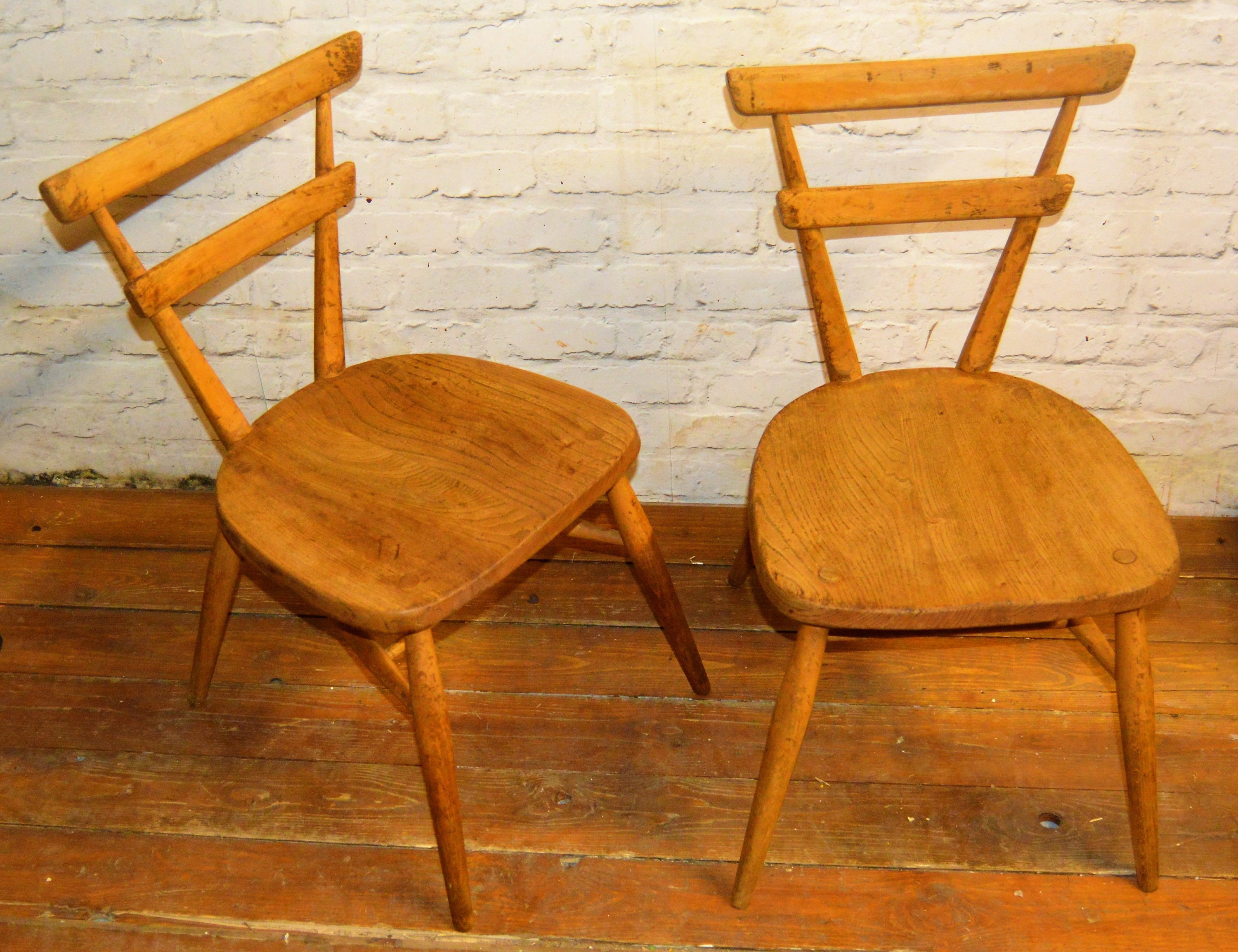 Ercol Blue Dot Vintage Stacking Childs Chairs Vinterior