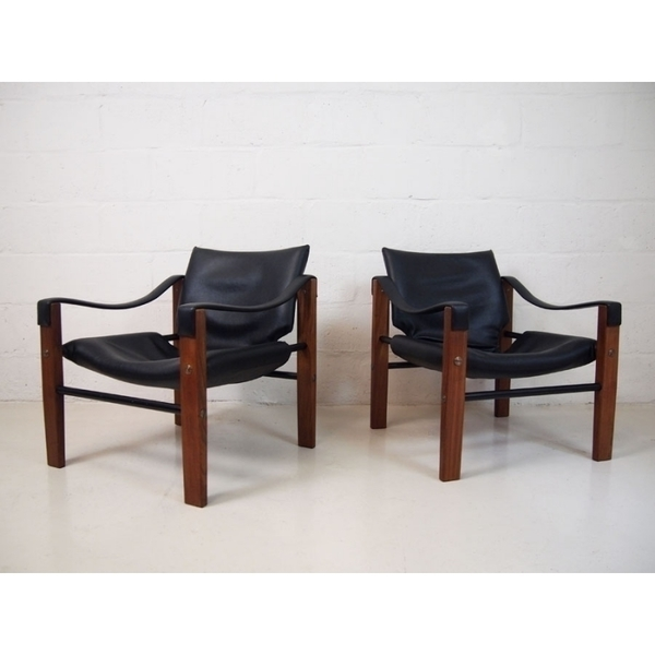 Pair Of Maurice Burke For Arkana Safari Chairs