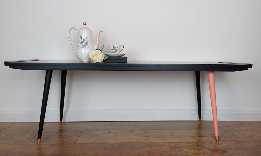 Mid Century Modern Teak Coffee Table Solid Teak Table Dansette