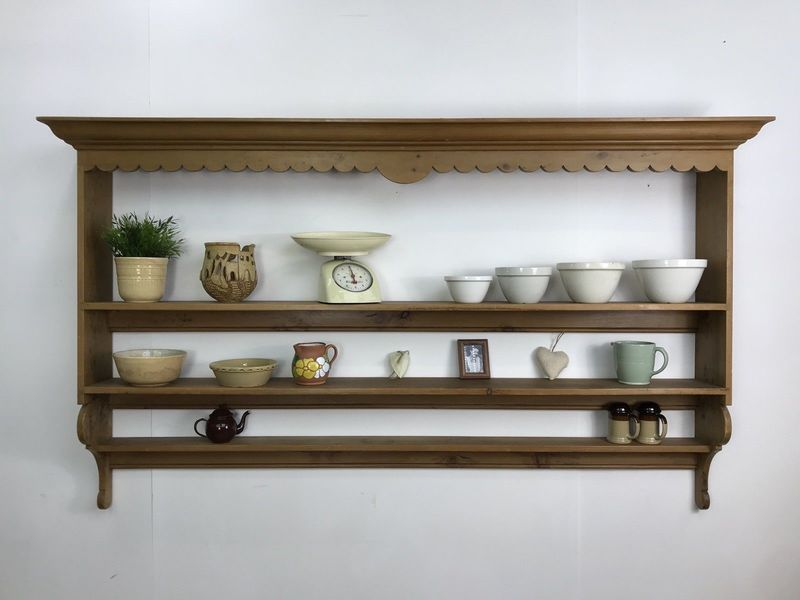 Plate Rack Vintage Farmhouse Kitchen