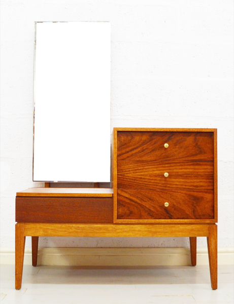 Mid Century Rosewood And Teak Dressing Table By Uniflex photo 1