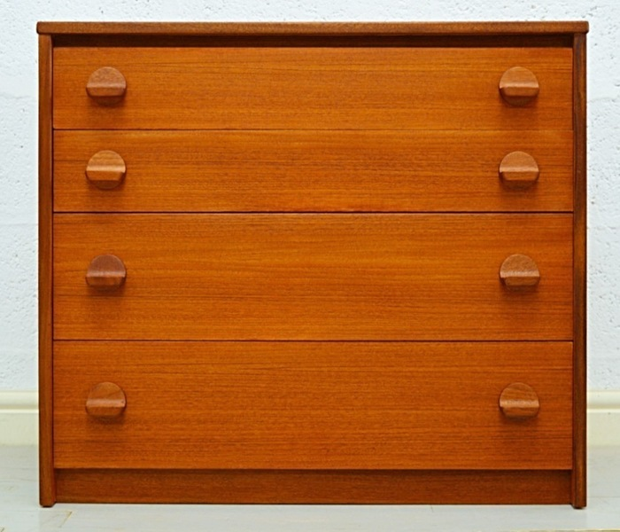 Mid Century Teak Chest Of Drawers By Stag photo 1