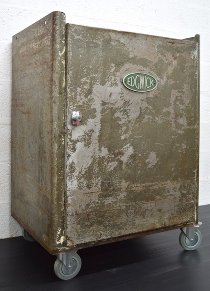 Mid Century Vintage Industrial Metal Cabinet By Edgwick photo 1