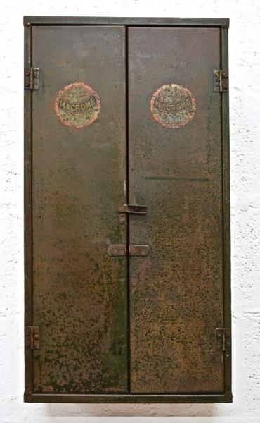 Vintage Mid Century Metal Tool Cabinet By Macrome