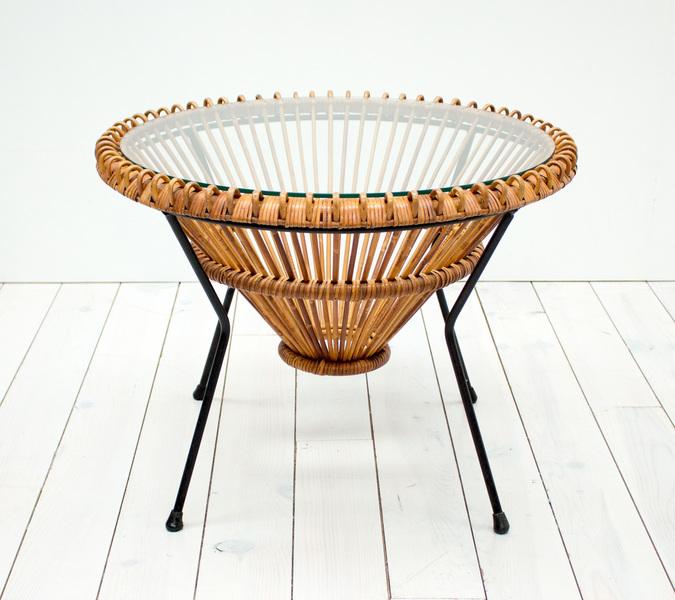 Franco Albini Rattan Coffee Table