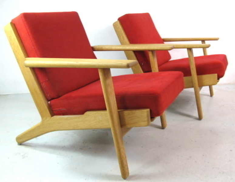 Hans Wegner Ge290 Plank Chairs For Getema