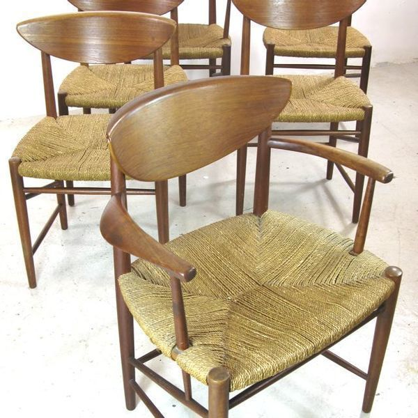 Set Of 6 Peter Hvidt And Orla Molgaard Nielsen Teak Dining Chairs For Soborg Mobelfabrik