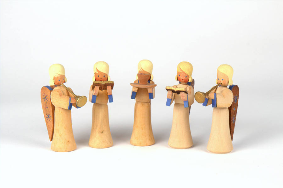 Group Of Angels By Karl Max Dittmann, Vintage, Christmas, Gdr
