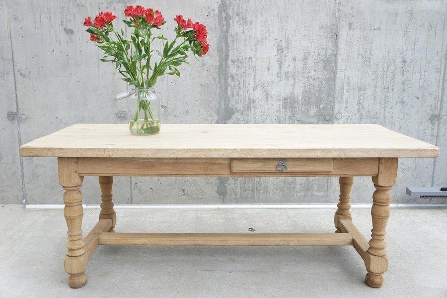 202cm Rustic Oak Farmhouse Refectory Table