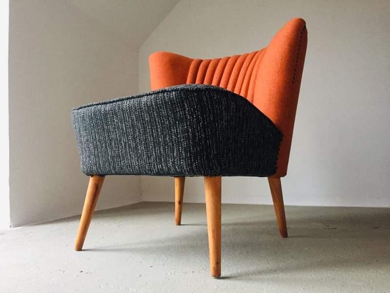 Iconic Mid-Century Bartholomew Chair 1950s Beautiful Cocktail Comfy Lounge Seat