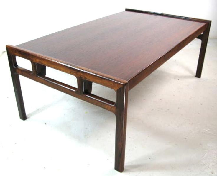 Karl Erik Ekselius Rosewood Coffee Table For Joc
