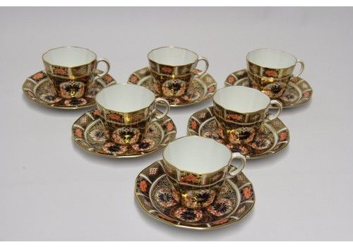 A Fine Crown Derby Tea Set