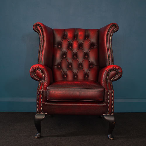 Vintage Chesterfield – Wingback, Cabriole Legs