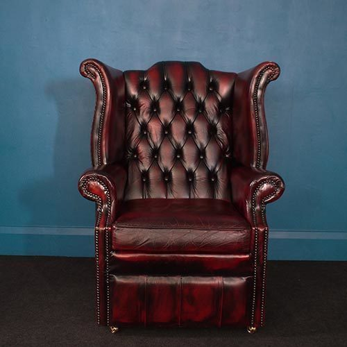 Superb Vintage Wingback Chesterfield Armchair