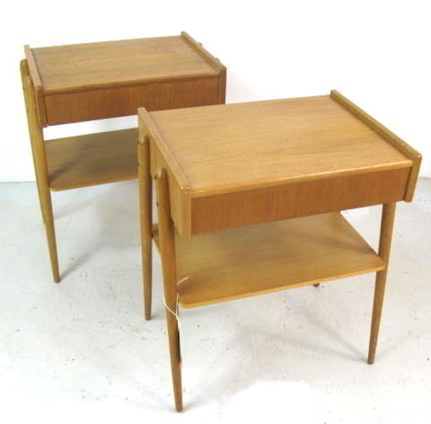 Pair Of Swedish Bedside Tables By Ab Carlstrom & Co