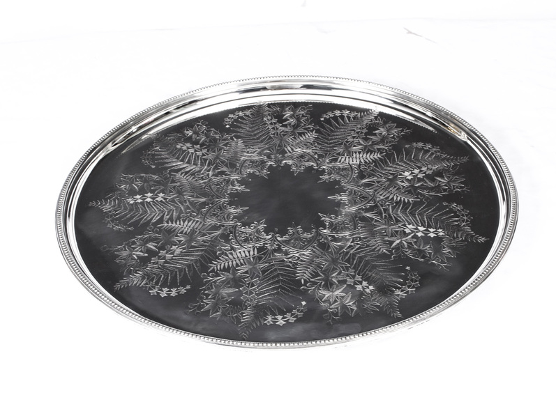 Antique Victorian Silver Plated Tray Mappin & Webb C1860