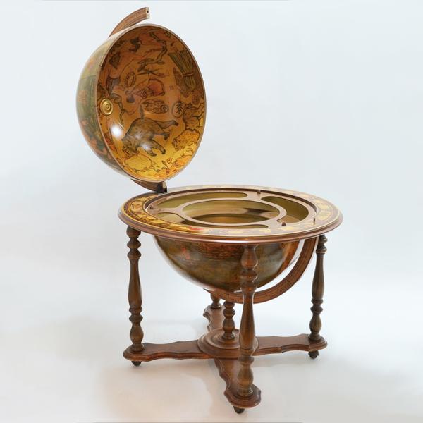 Vintage Italian Globe Bar Cart Liquor Cabinet