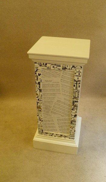 Shabby Chic And Decoupage Pedestal / Display Plinth / Display Stand photo 1
