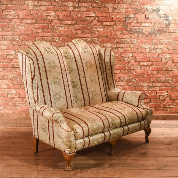 2 Seater Sofa In A Queen Anne Style, C.1900