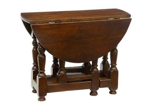 Late 19th Century Small Oak Gateleg Side Occasional Table