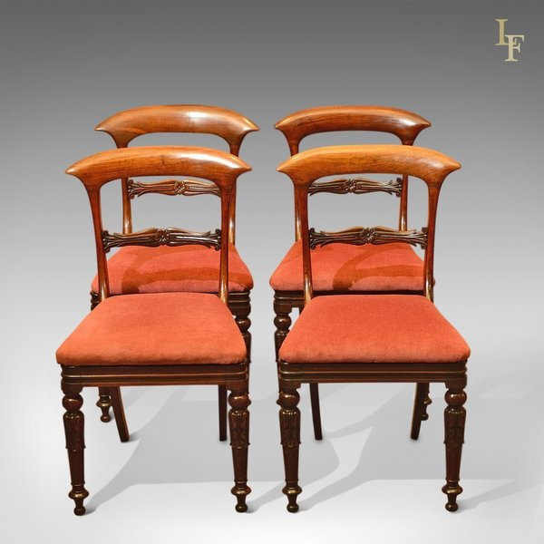 Regency Set Of 4 Rosewood Dining Chairs, C.1820 photo 1
