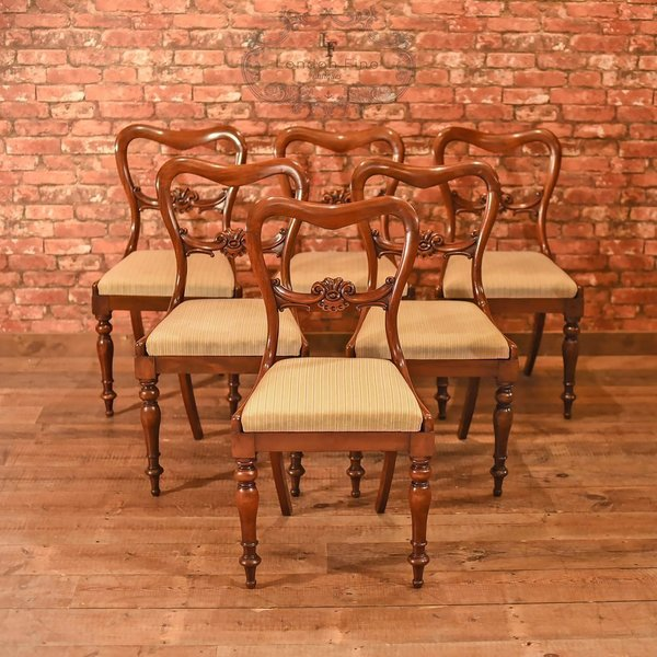 William Iv, Set Of Six Buckle Back Dining Chairs, C.1835 photo 1
