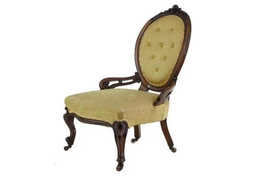 Early Victorian Mahogany Salon Nursing Chair
