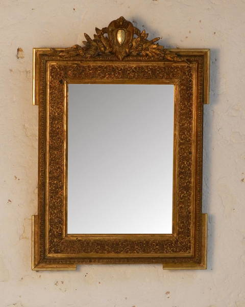 Traditional Giltwood Mirror From South West France