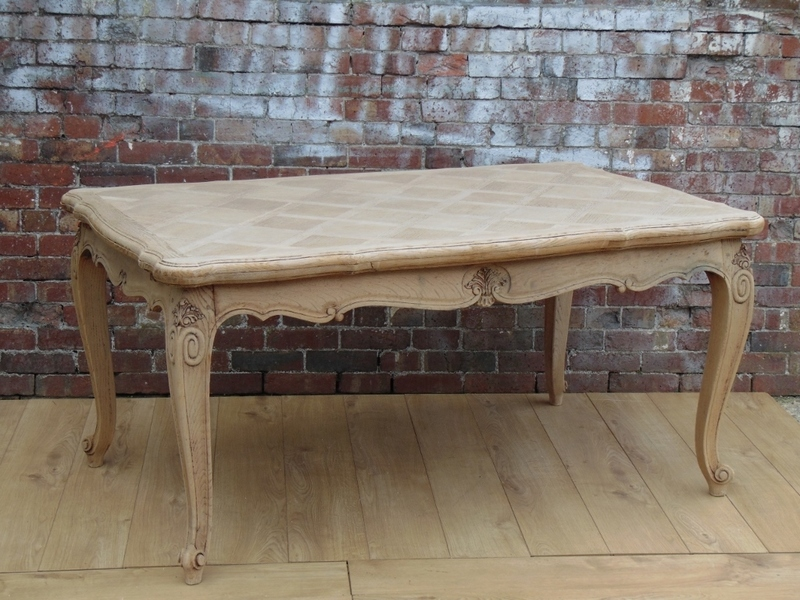 Large Bleached Oak Dining Table
