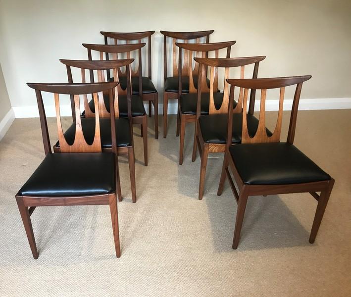 Set Of 8 Mid Century G Plan Brasilia Dining Chairs