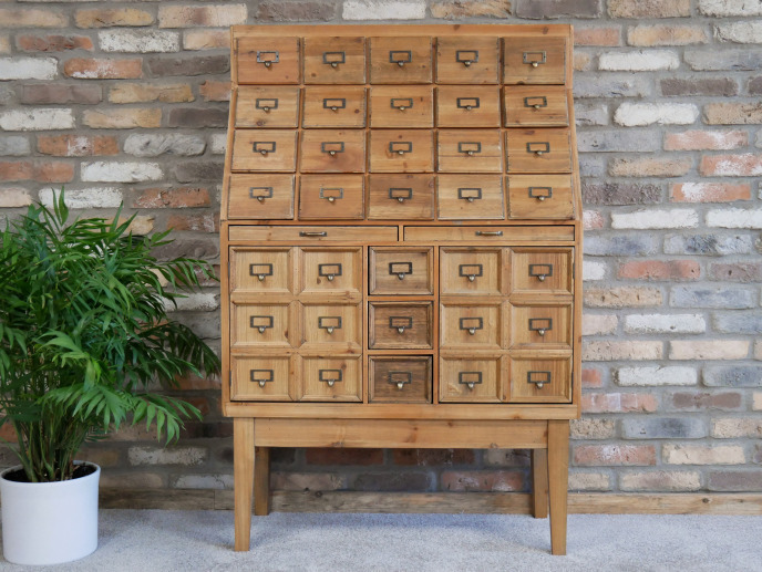 Large Industrial Storage Cabinet / Chest Of Drawers / Apothecary Cabinet